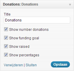 Pronamic Donations - Widget Admin