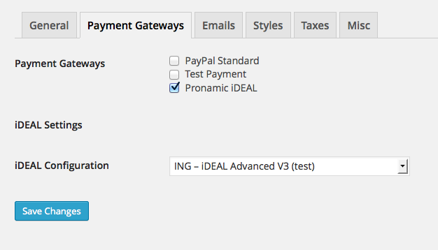 Easy Digital Downloads payment gateways iDEAL