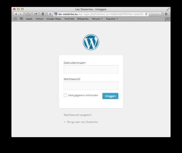 WordPress handleiding - Inloggen
