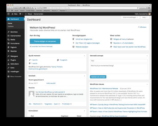 02. WordPress handleiding - Dashboard