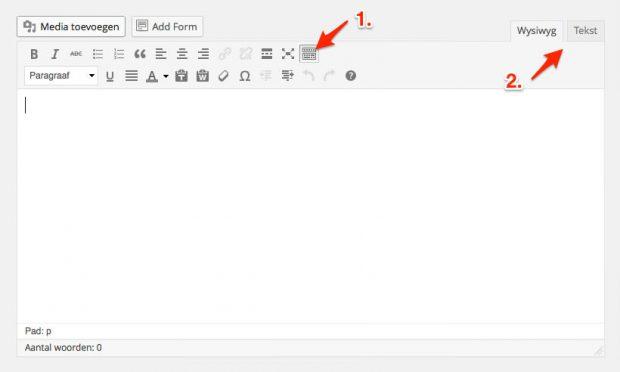 05. WordPress handleiding - Bericht editor