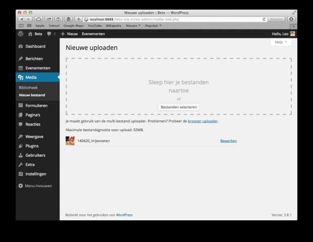 07. WordPress handleiding - Uploaden bestand (mediabibliotheek)