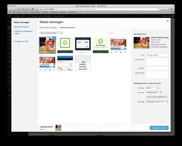 08. WordPress handleiding - Uploaden bestand (bericht-pagina)