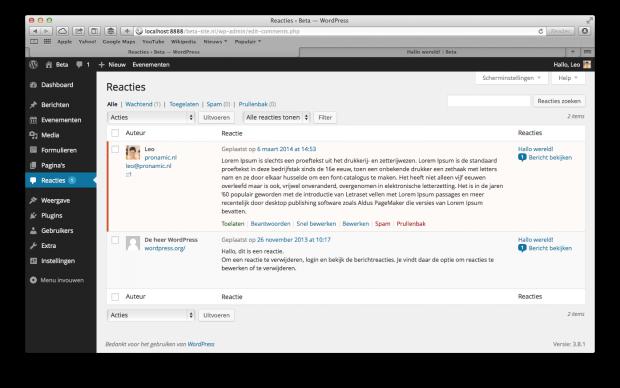 09. WordPress handleiding - Reacties