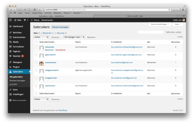 10. WordPress handleiding - Gebruikers