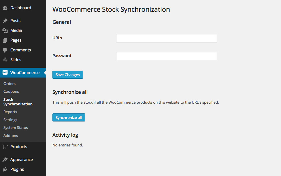 WooCommerce Stock Synchronization