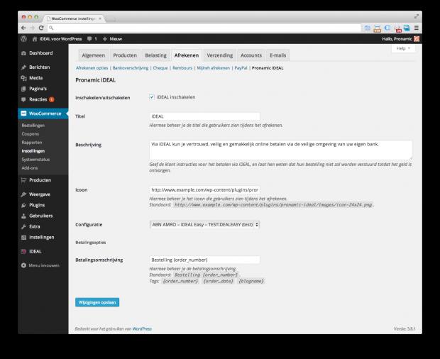 WooCommerce - Pronamic iDEAL gateway inschakelen