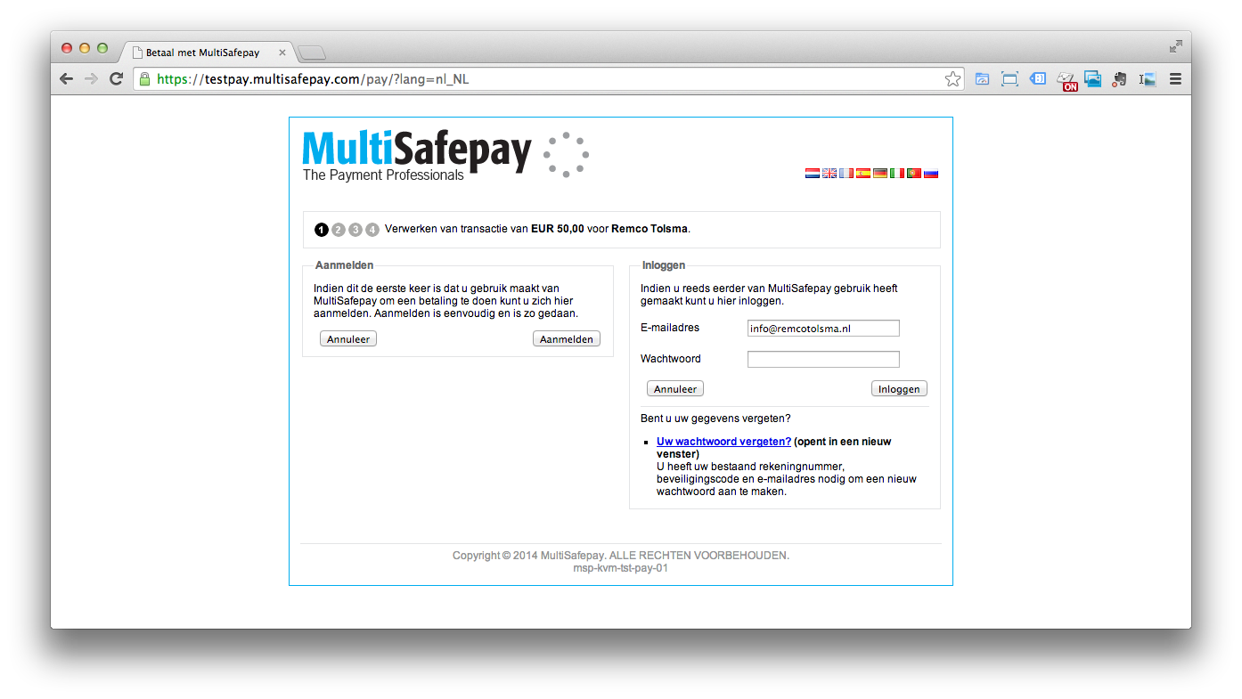 Pronamic iDEAL koppelen aan MultiSafepay - Pronamic Multisafepay