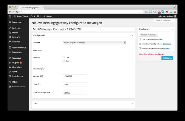 Pronamic iDEAL - Nieuwe configuratie MultiSafepay