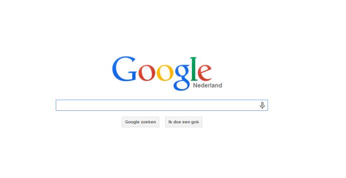 Startpagina van Google. Een goed voorbeeld van een website met een duidelijk doel en taak.