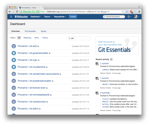 Bitbucket Pronamic