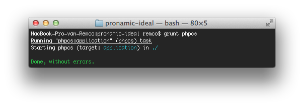 Pronamic iDEAL - Grunt PHP CodeSniffer