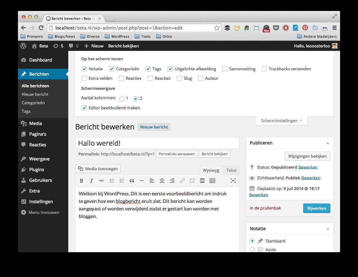 Maak WordPress eenvoudiger - Scherminstellingen
