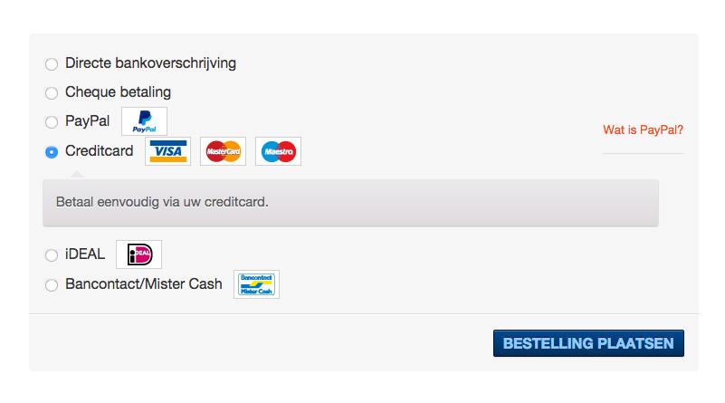 Betaalmethoden van Buckaroo in WooCommerce