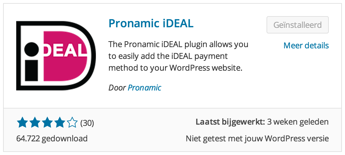 Pronamic iDEAL plugin icon