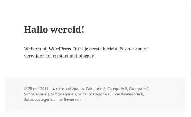 WordPress categorieën alles