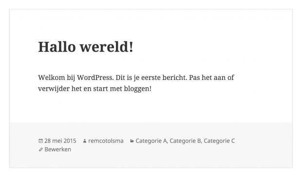 WordPress categorieën filter
