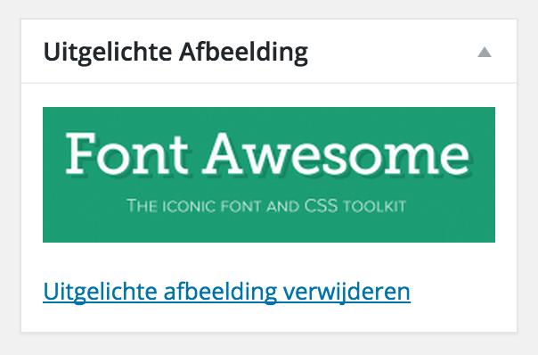 WordPress uitgelichte afbeelding functionaliteit