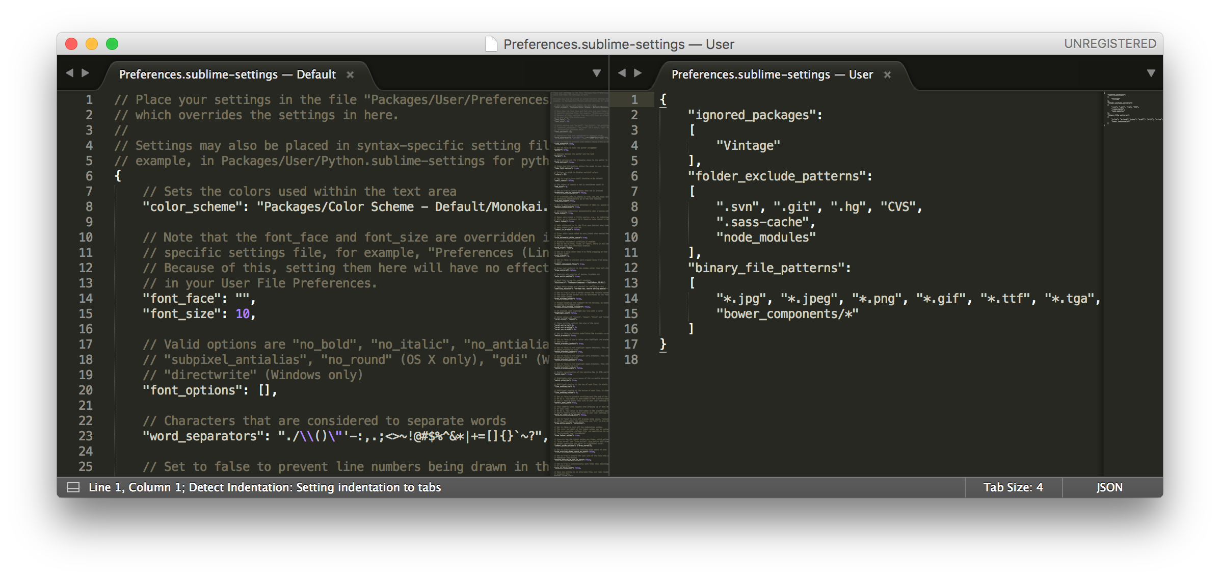 Sublime Text 3 - Preferences.sublime-settings