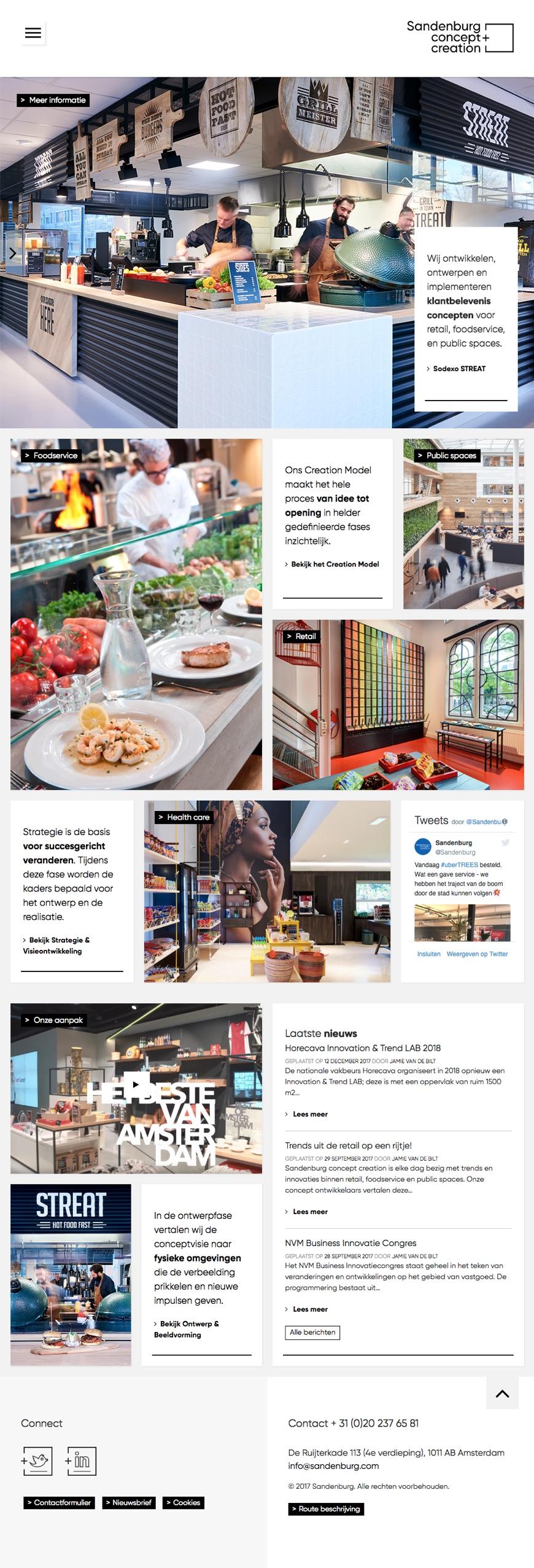 WordPress website voor Sandenburg Concept Creation