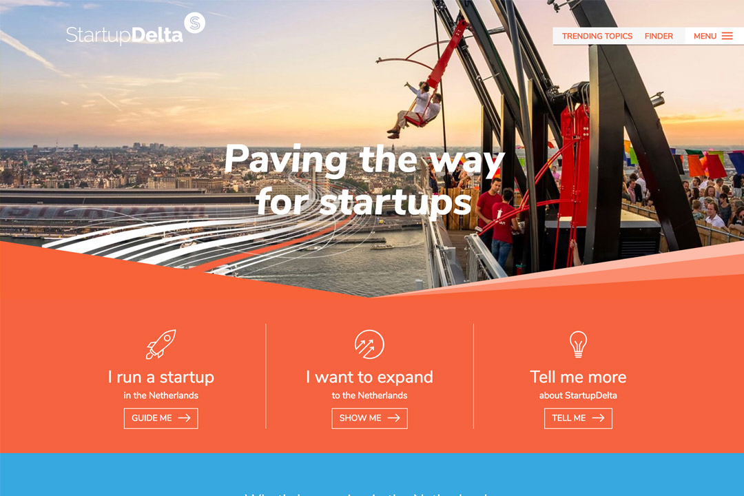Screenshot van StartupDelta