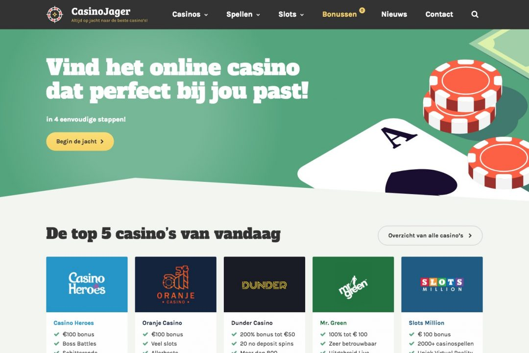 Screenshot van CasinoJager