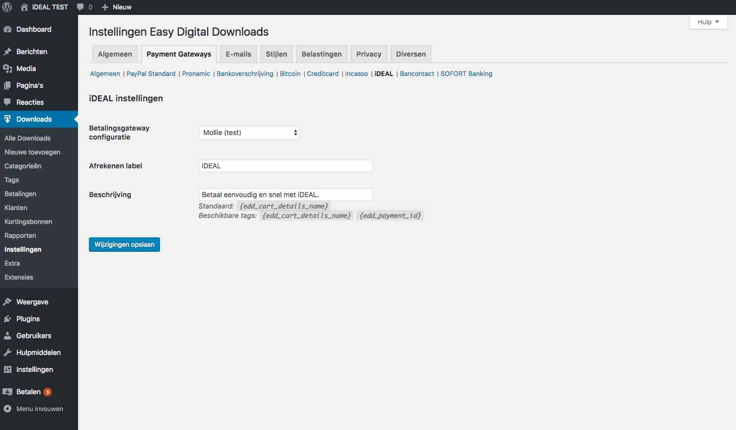 Pronamic Pay koppelen aan Easy Digital Downloads