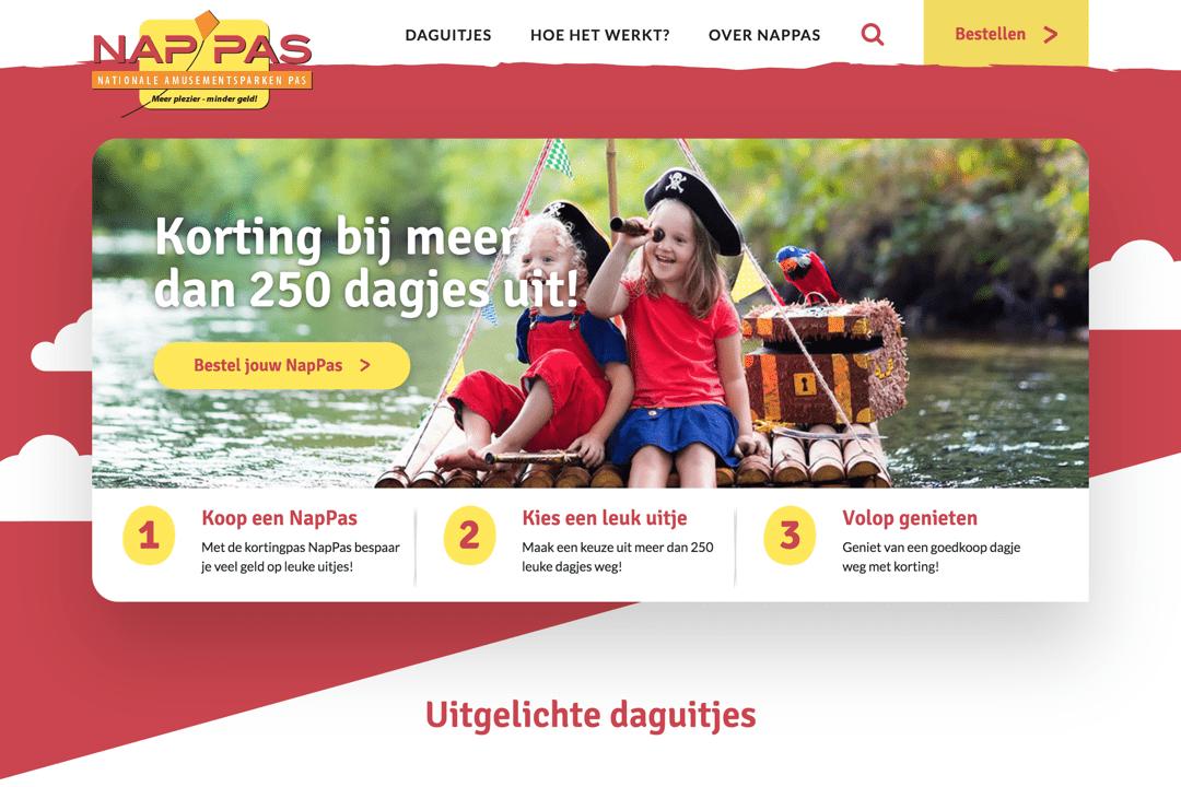 Portfolio NapPas WordPress website