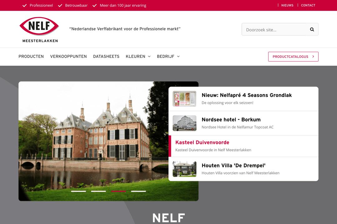 WordPress website voor Nelf Lakfabrieken