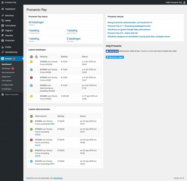 Nieuwe Pronamic Pay 5.8 dashboard icoon.