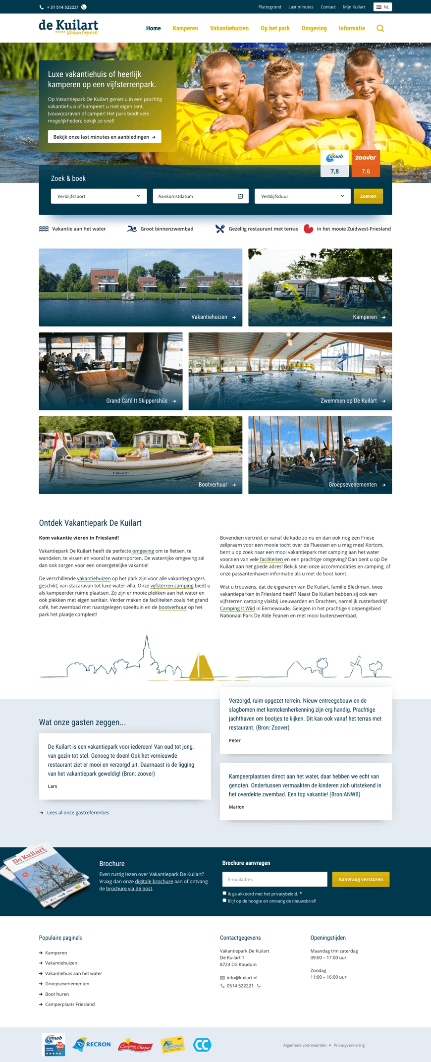 WordPress website voor De Kuilart