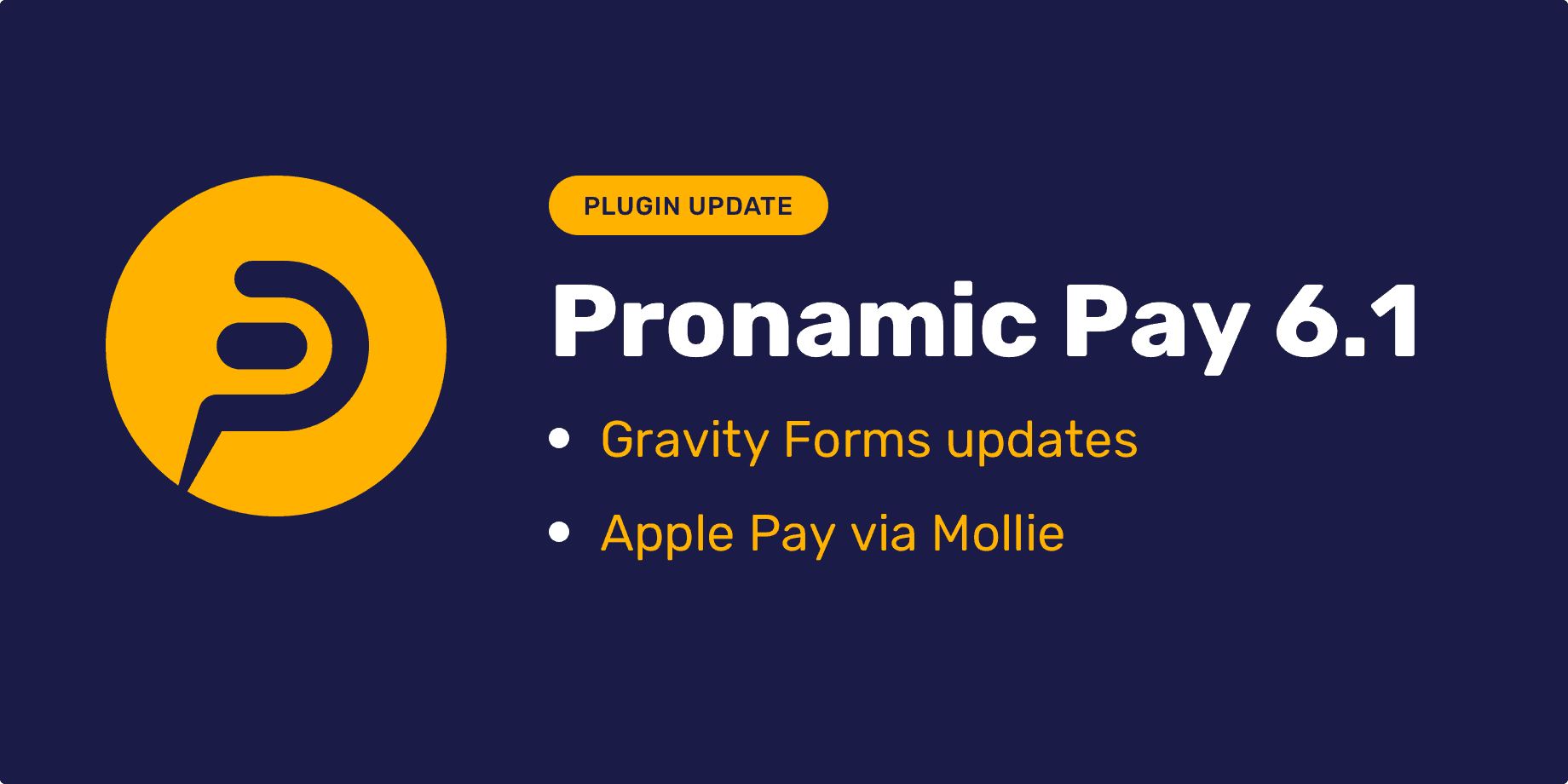 Pronamic Pay 6.1