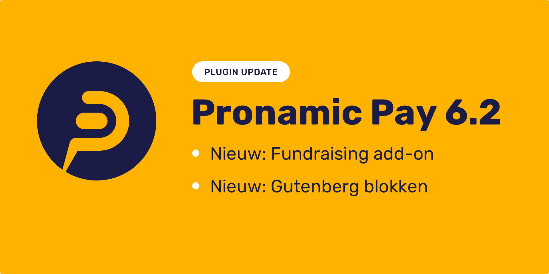 Pronamic Pay 6.2 Fundraising