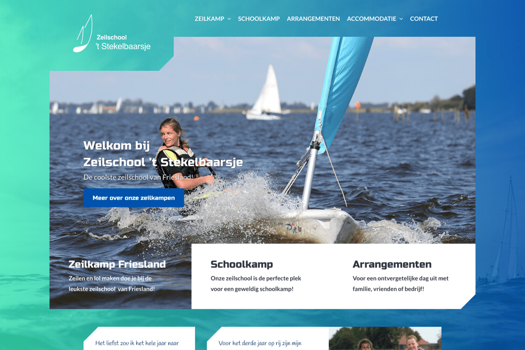 Screenshot website 't Stekelbaarsje