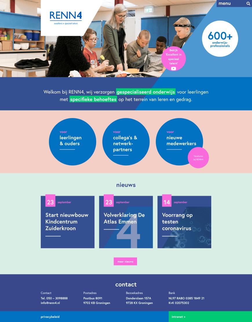 WordPress website voor RENN4