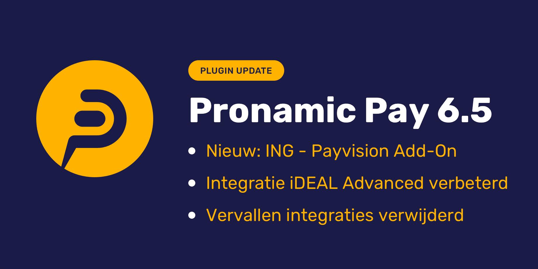 Pronamic Pay 6.5