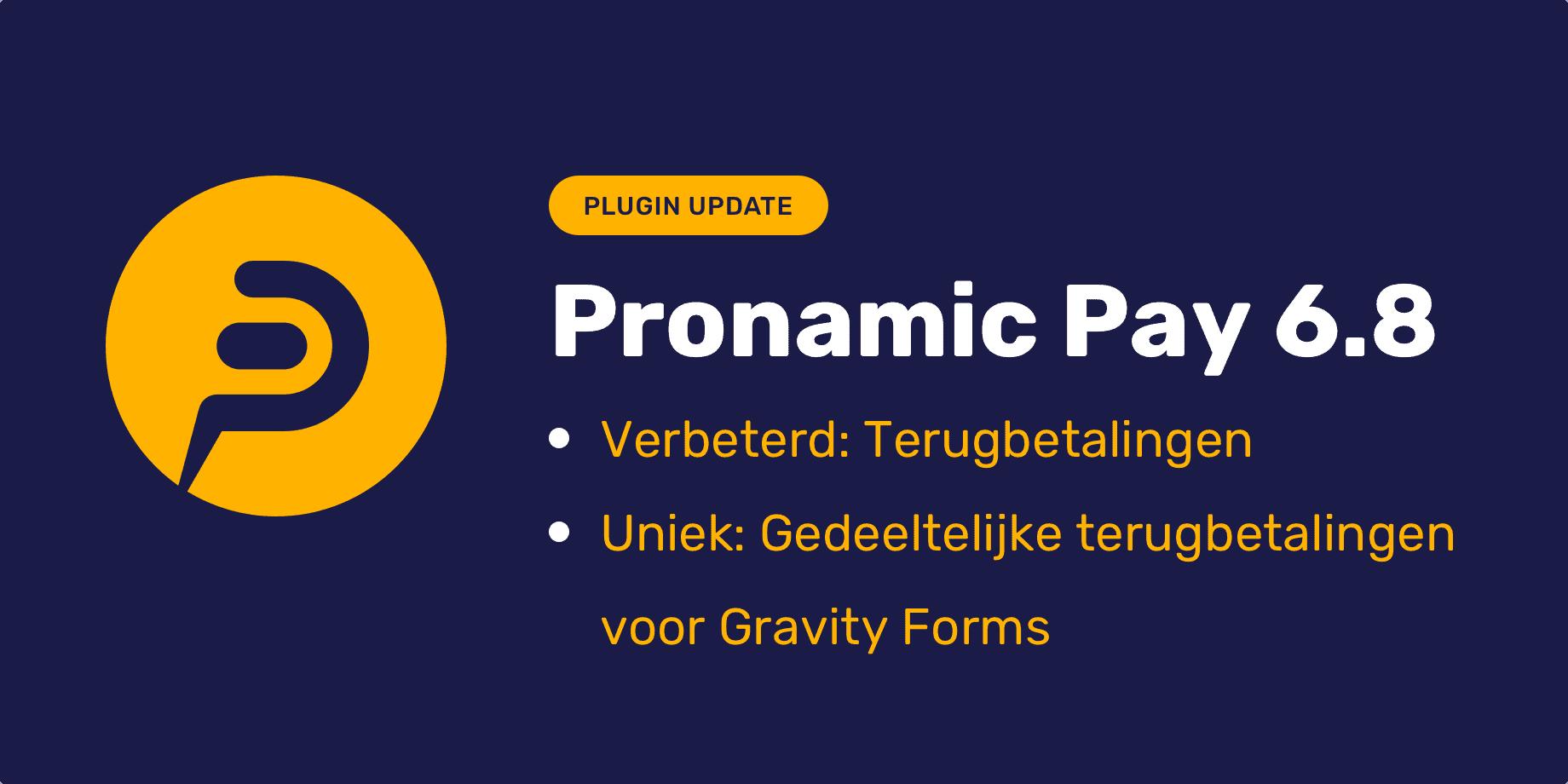 Pronamic Pay 6.8