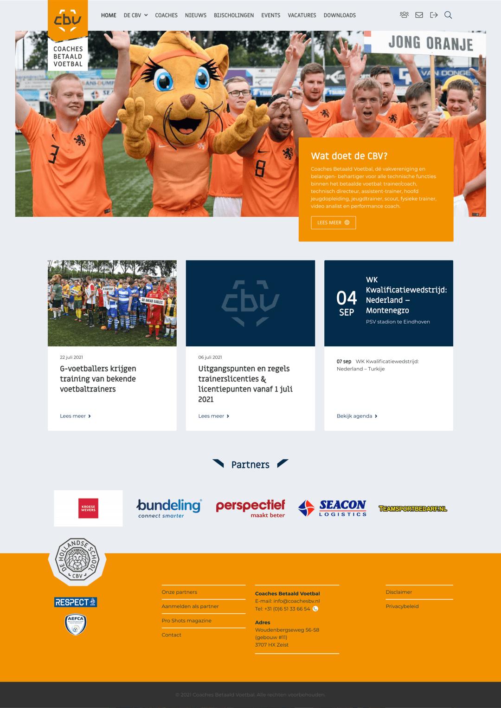 CoachesBV WordPress website